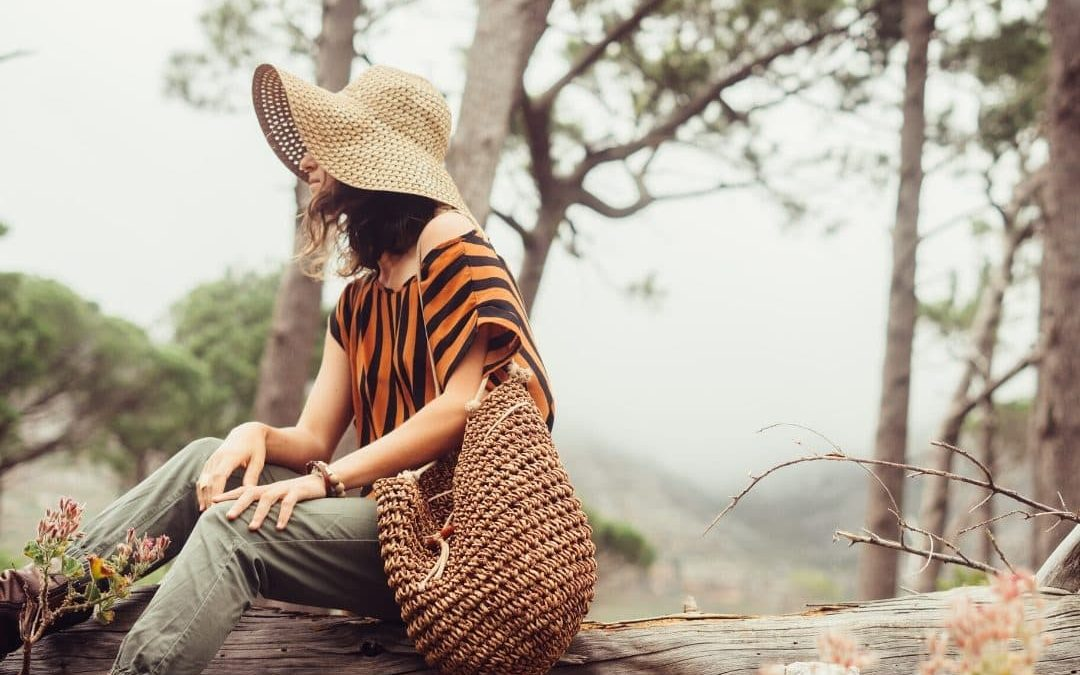 Living Mindfully in Difficult Times blog image - woman being mindful outside
